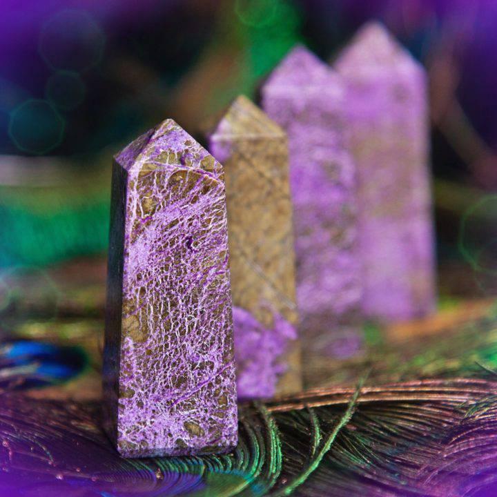 Empath Boundary Stichtite Obelisks