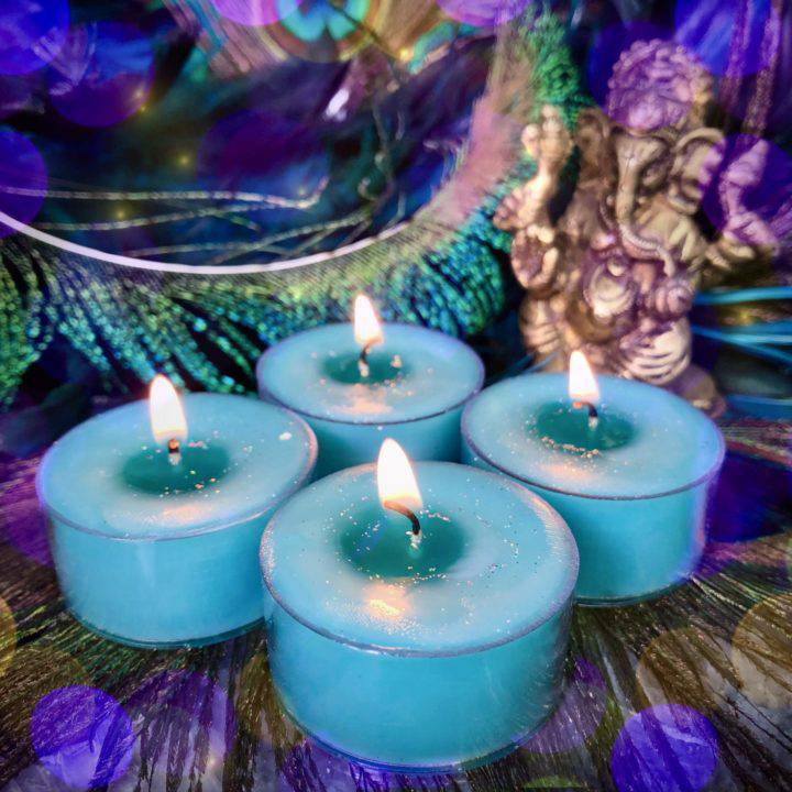 Ganesha Intention Tea Lights with Lakshmi Perfume