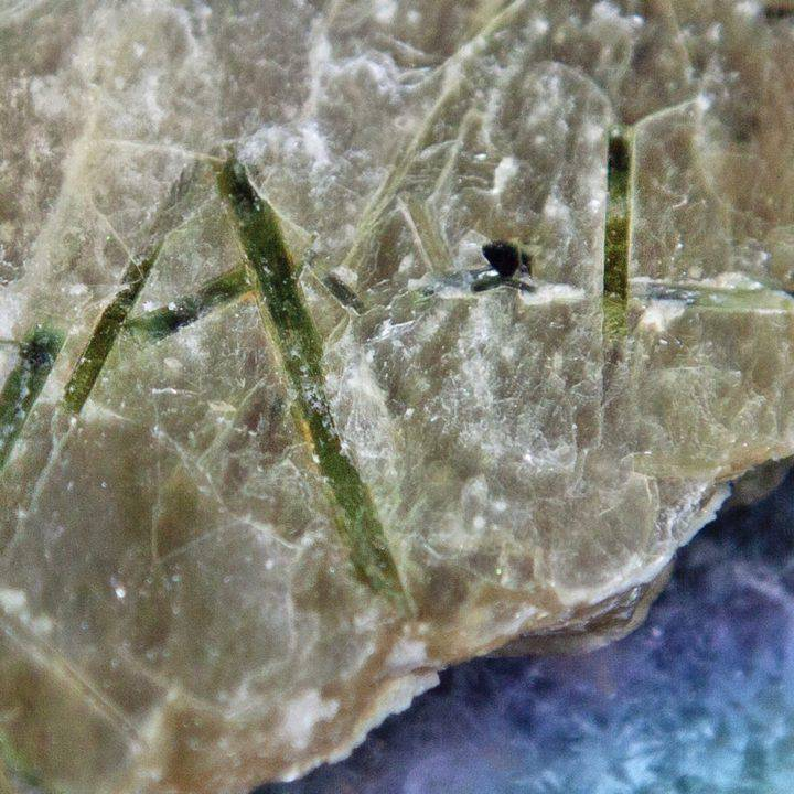 Golden Mica with Black and Green Tourmaline
