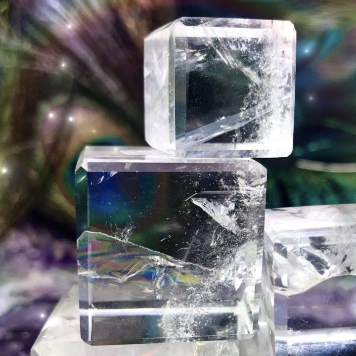 Grounded Awakening Clear Quartz Cubes