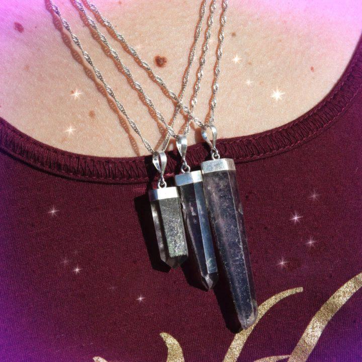 Healing and Sacred Journey Lodolite Pendants