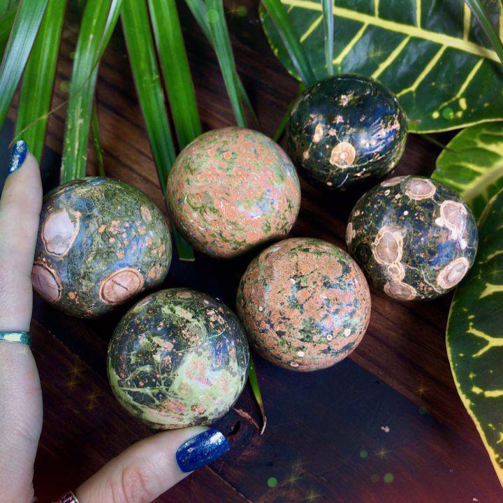 Hope and Healing Rainforest Jasper Spheres