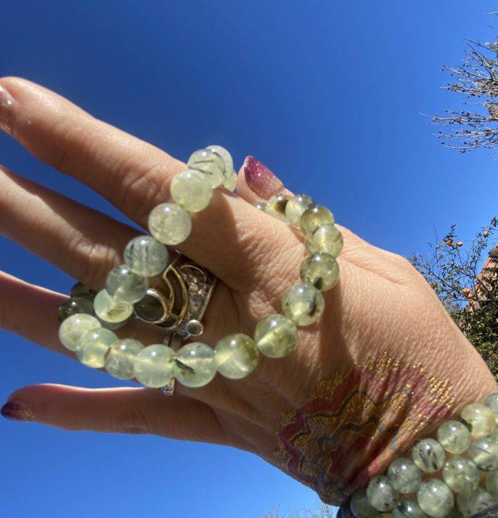 Ultimate Healer Prehnite With Epidote Bracelets