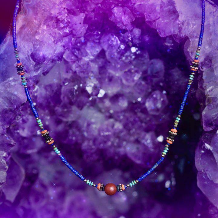 Lapis and Carnelian Queen's Power Necklaces