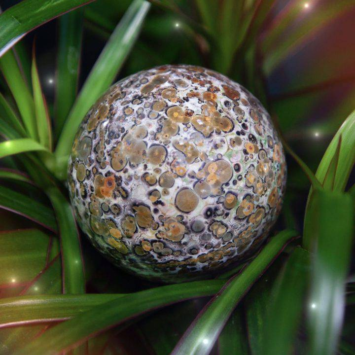Leopardskin Jasper Journey Spheres