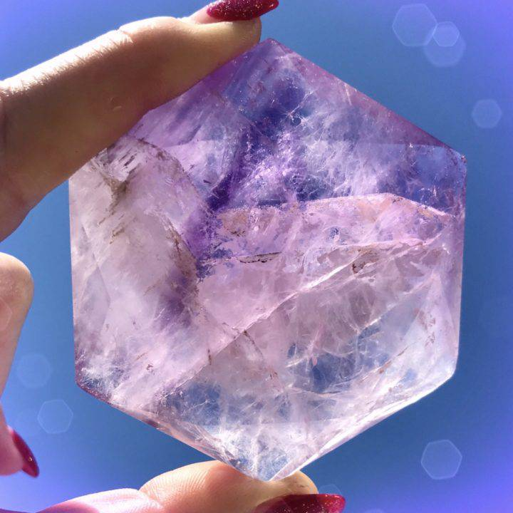 Meditation and Visioning Amethyst Hexagons