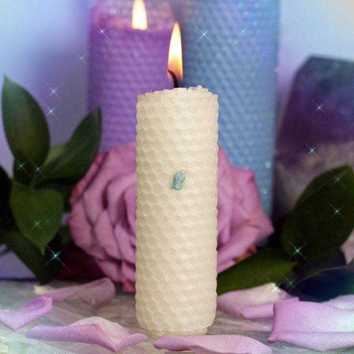 One Wish Beeswax Intention Candles