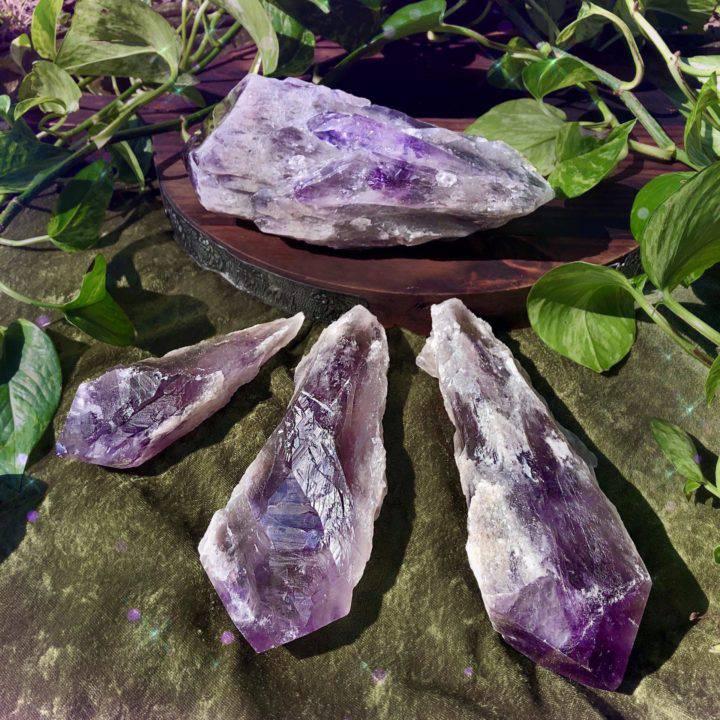 Rare Phantom Amethyst Root Crystals