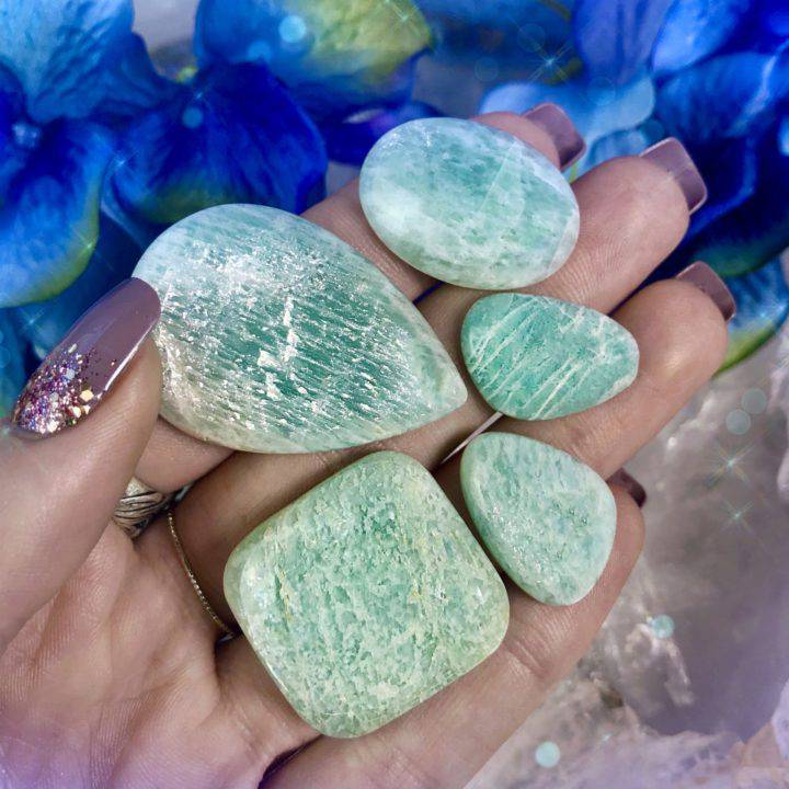 Speak Your Truth Amazonite Cabochons