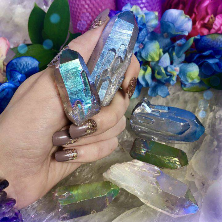 Tanzine Aura Quartz Psychic Awakening Crystals