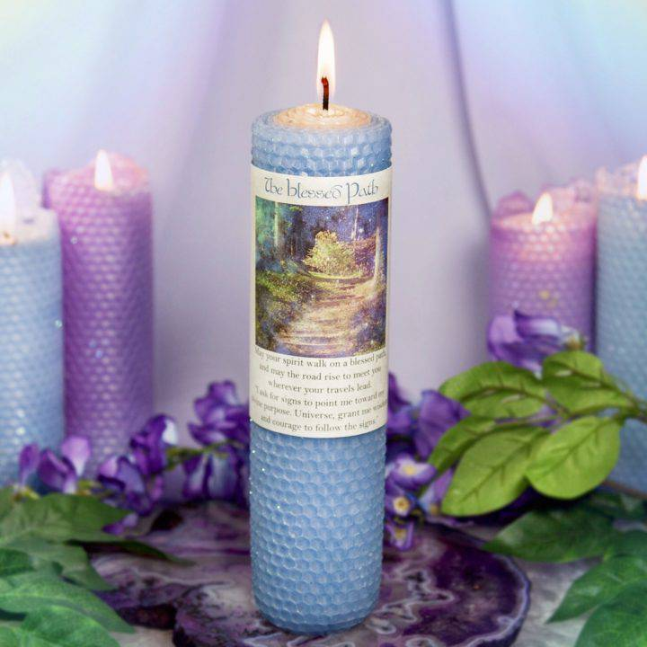 The Blessed Path Beeswax Intention Candles