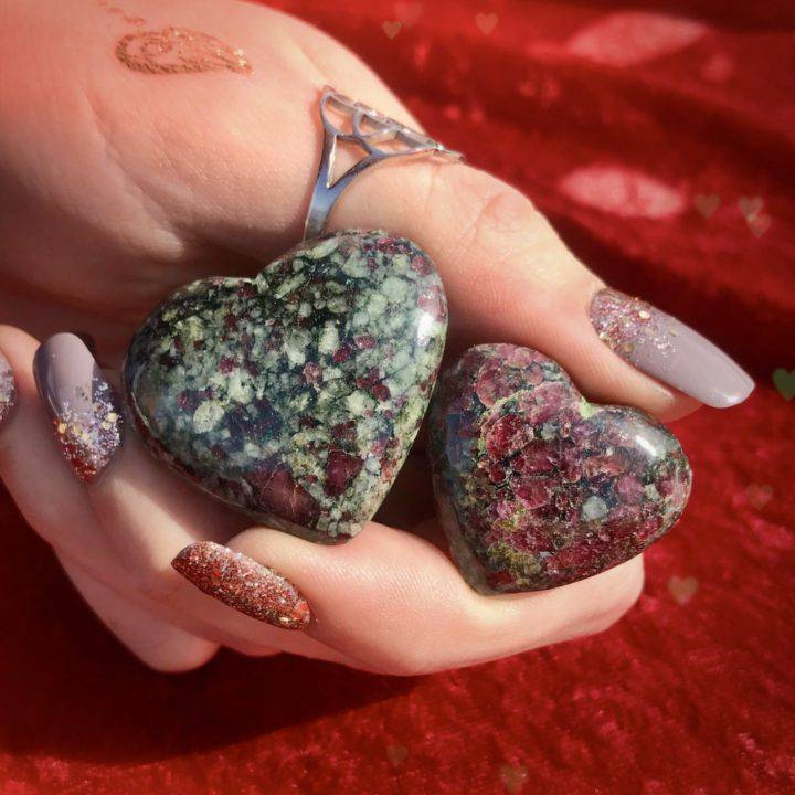 Eudialyte Healing Hearts