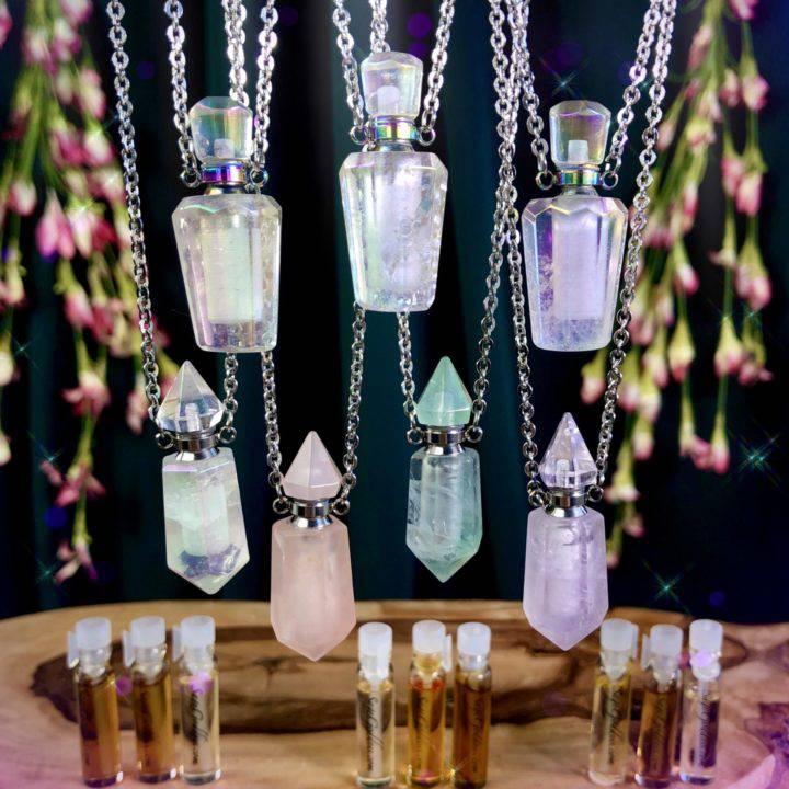 Gemstone Perfume Pendants