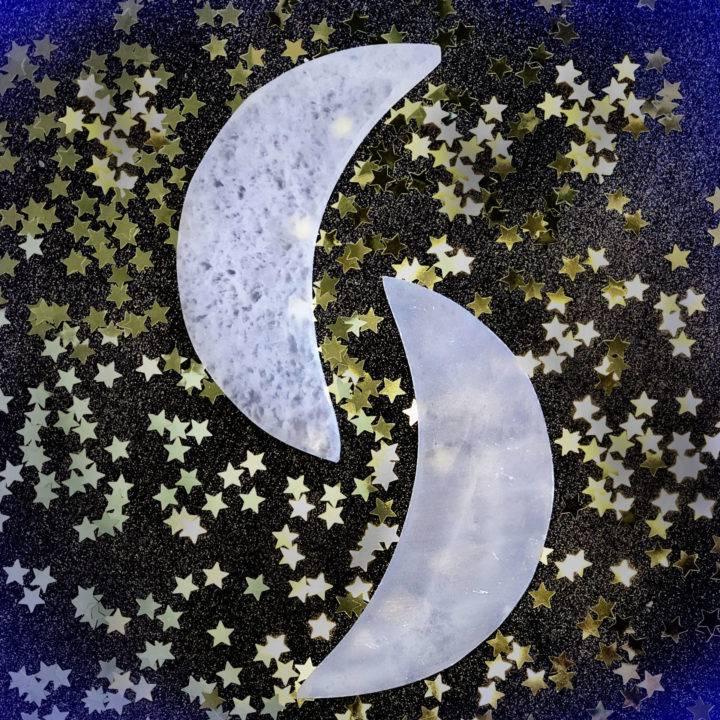 Large Selenite Moons