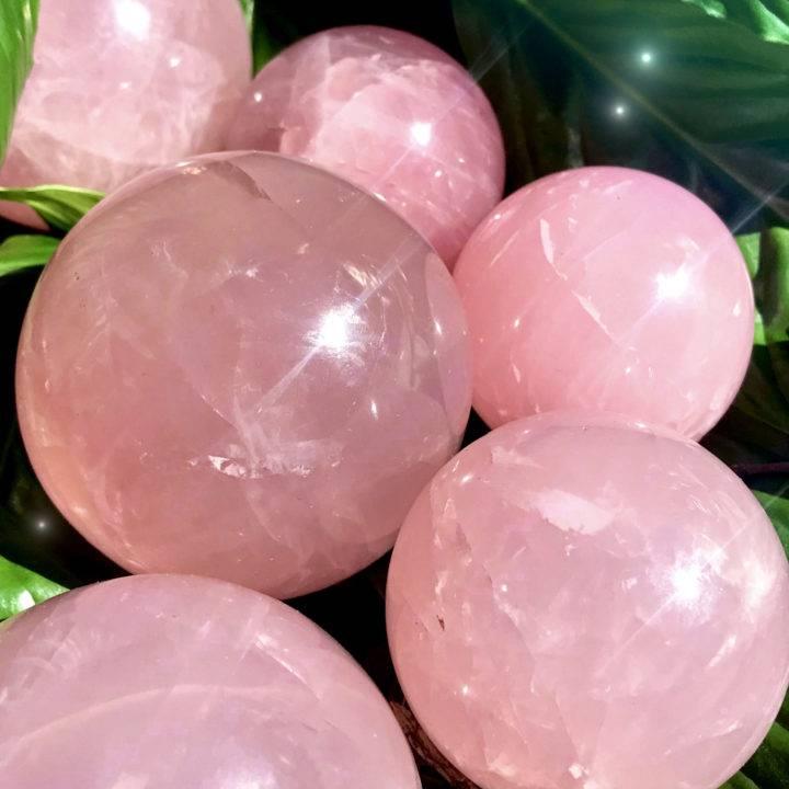 Unconditional Love Rose Quartz Spheres