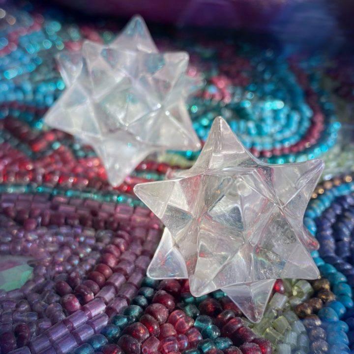 12 Pointed Clear Quartz Stars