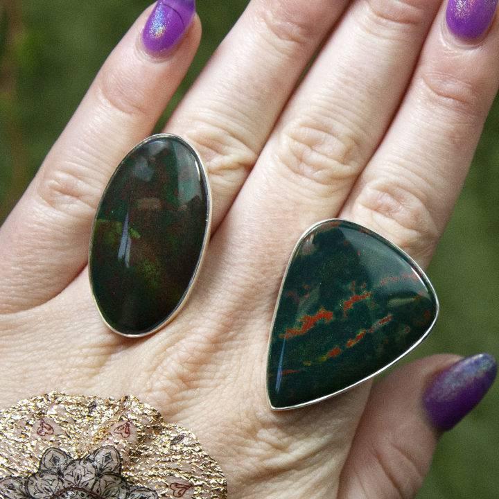 Bloodstone Rings