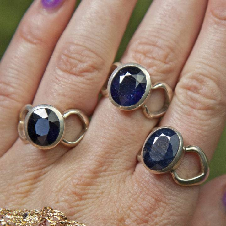 Faceted Sapphire Rings