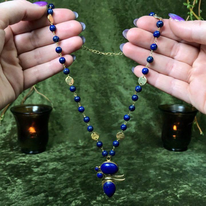 Lapis Priestess Necklace