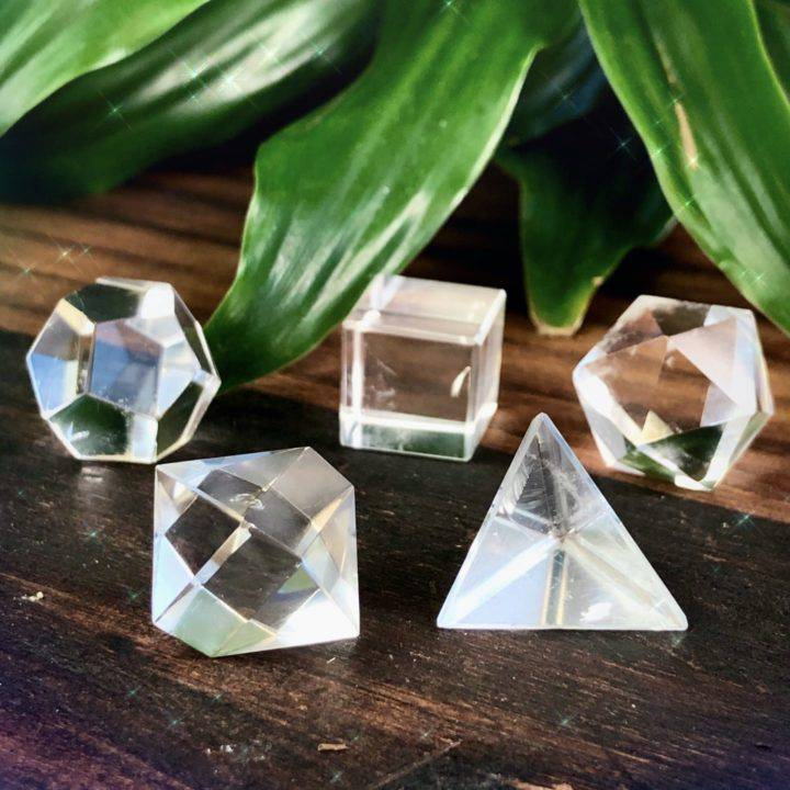 Clear Quartz Sacred Geometry Set