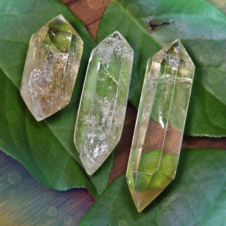 Double Terminated African Citrine Manifestation Wands
