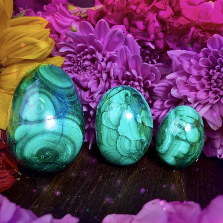Feminine Healing Malachite Eggs