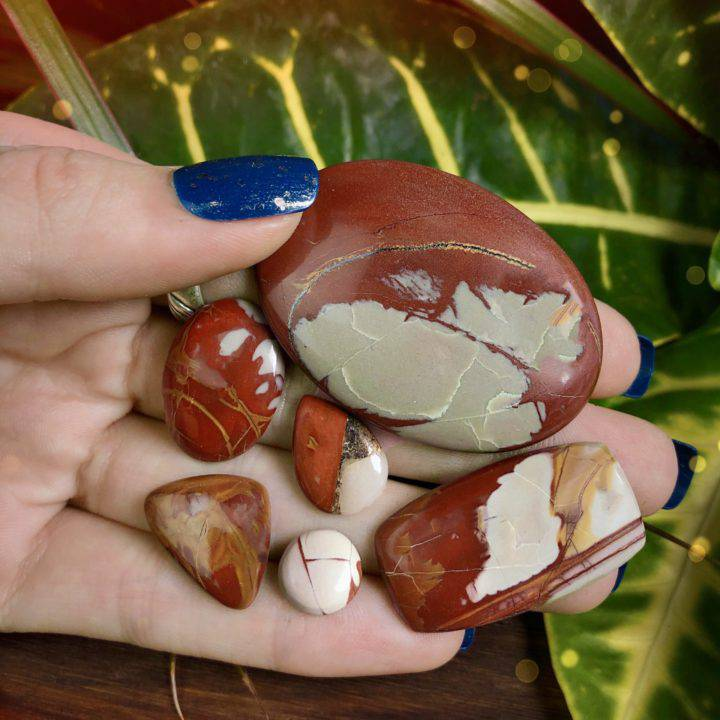 Grounding and Stabilizing Noreena Jasper Cabochons