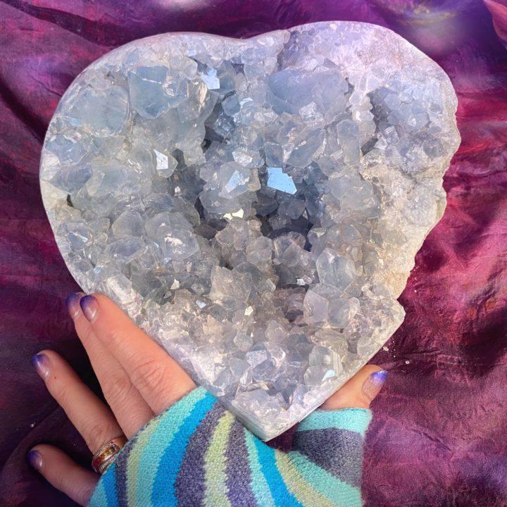 Huge Celestite Heart