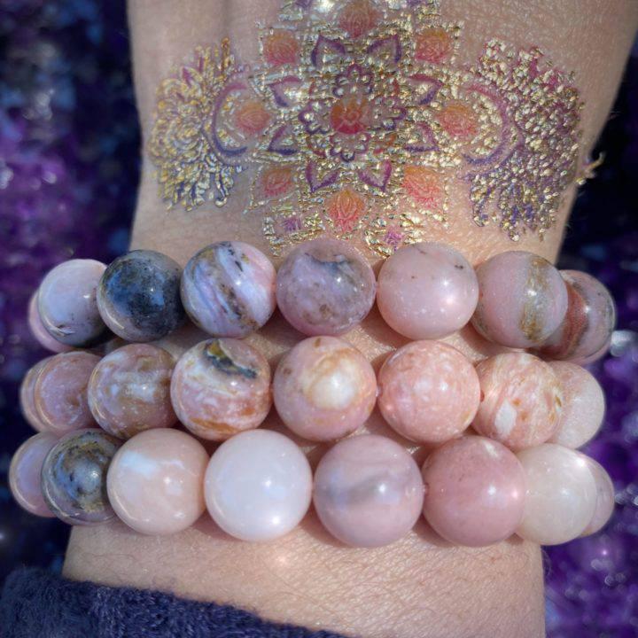 Peruvian Pink Opal Bracelets