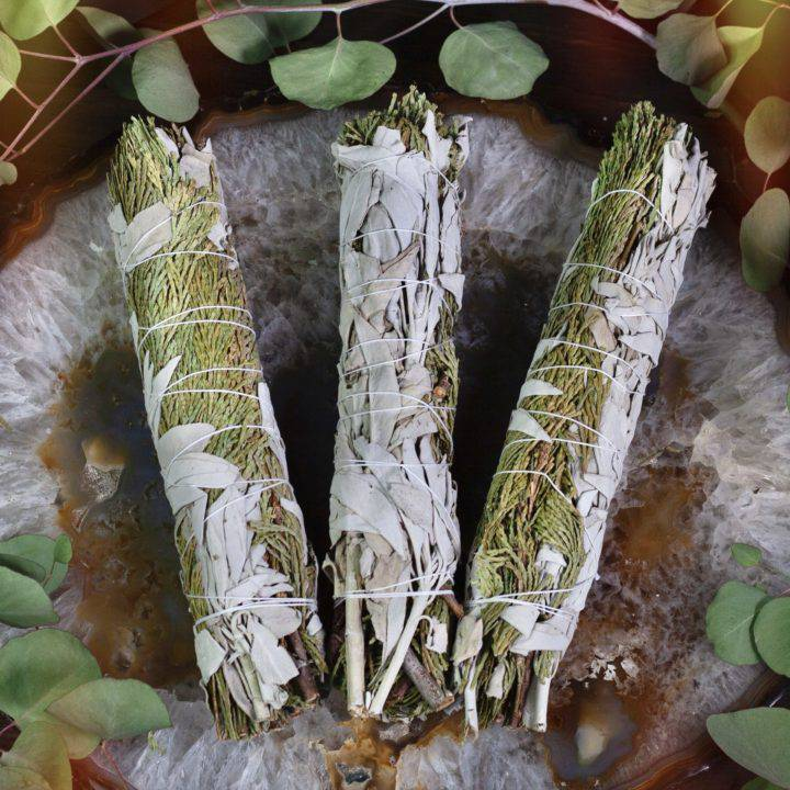 Large Cedar and White Sage Smudge Bundles
