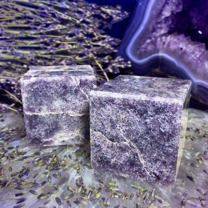 Lepidolite Tranquility Cubes