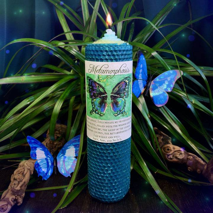 Metamorphosis Beeswax Intention Candles
