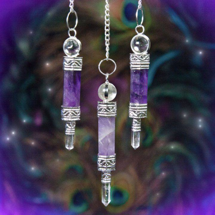 Psychic Connection Amethyst Pendulums