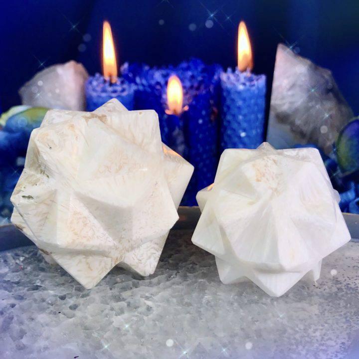 Scolecite 3D Metatrons Cubes