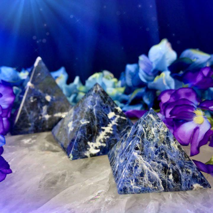 Sodalite Dreamcatcher Pyramids