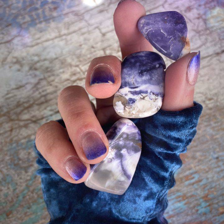 Tiffany Stone Purple Passion Bra Stones