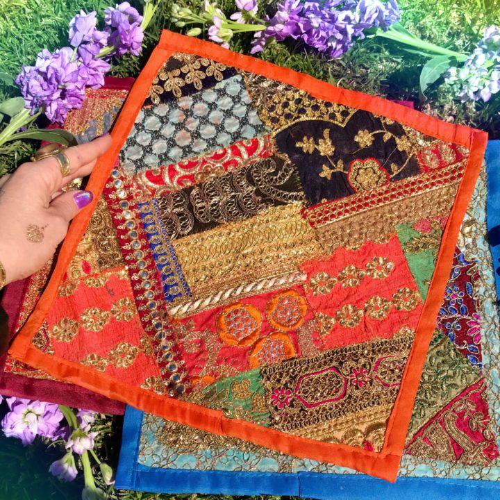 Decorative Sari Altar Mats
