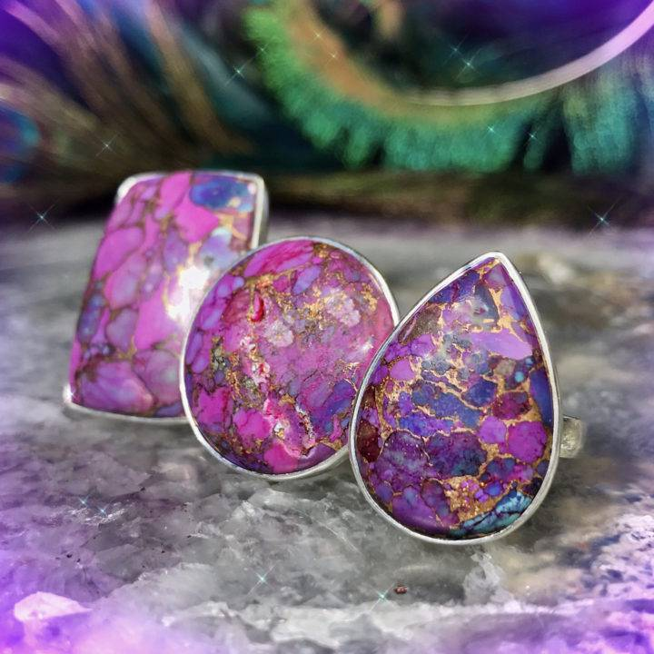 Purple Mojave Copper Turquoise Rings