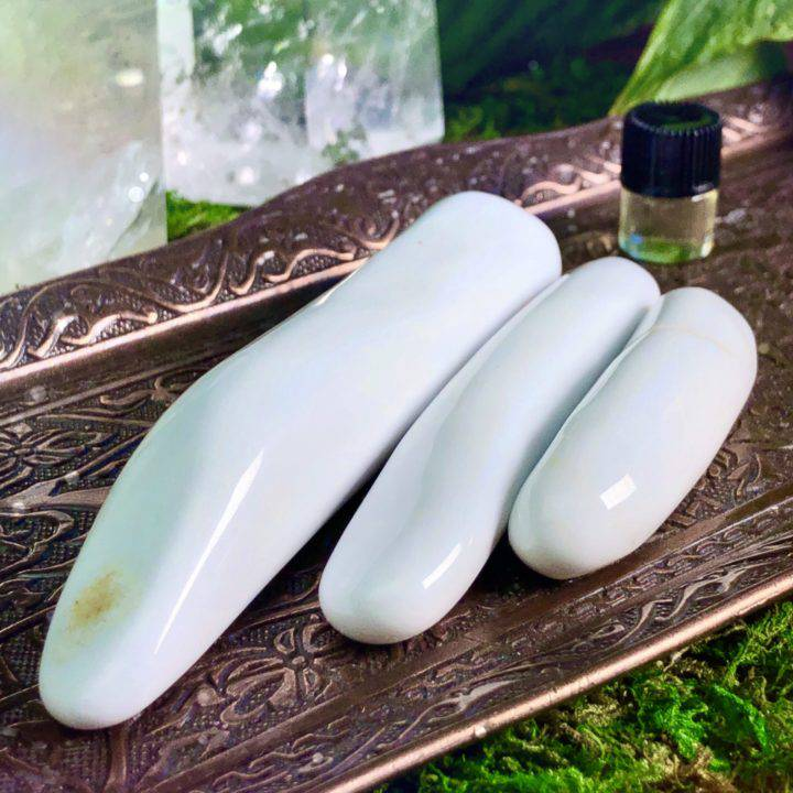 Sacred Manifestation Cacholong White Opal Wand and Perfume Duo