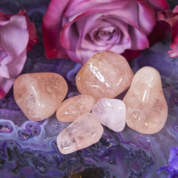 Tumbled Peach Morganite