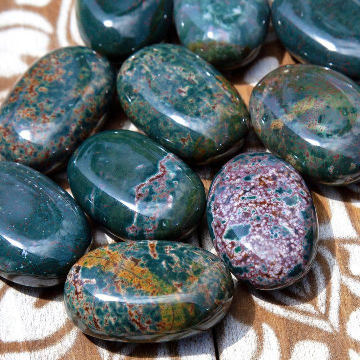 Ultimate Healing Bloodstone Palm Stones