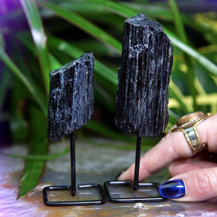 Ultimate Protection Black Tourmaline with Stand