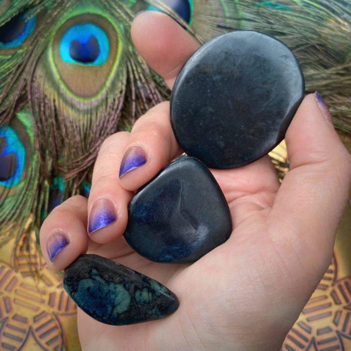 Sacred Journey Vivianite Bra Stones