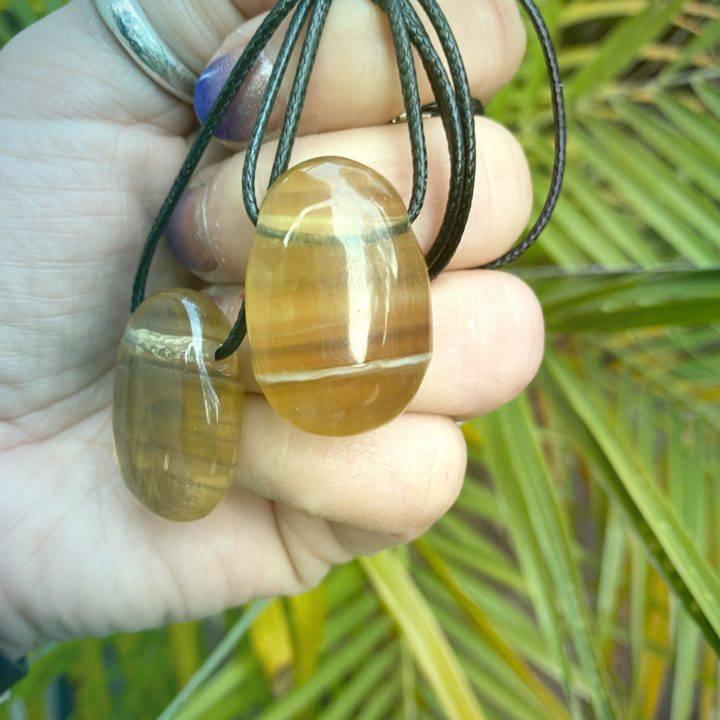 Yellow Fluorite Mega Manifestation Necklaces