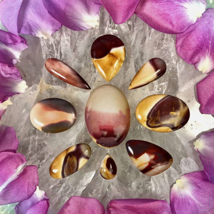 Youthful Beauty Brecciated Mookaite Jasper Cabochons