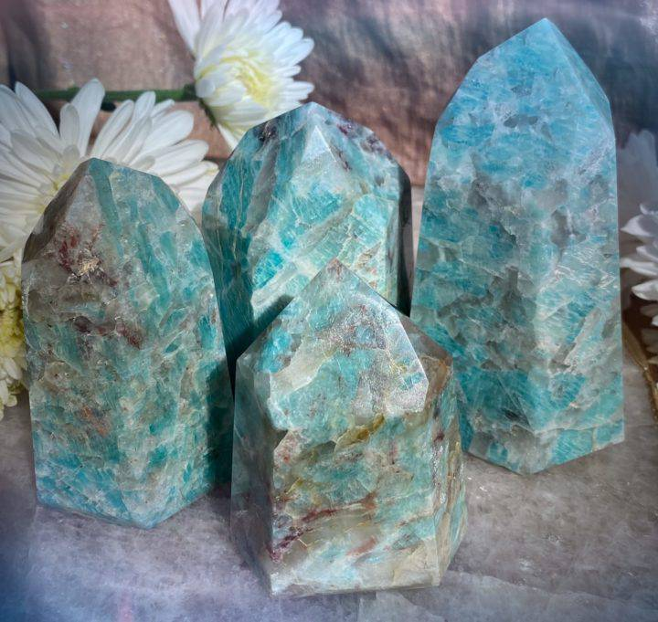Amazonite with Smoky Quartz Generators