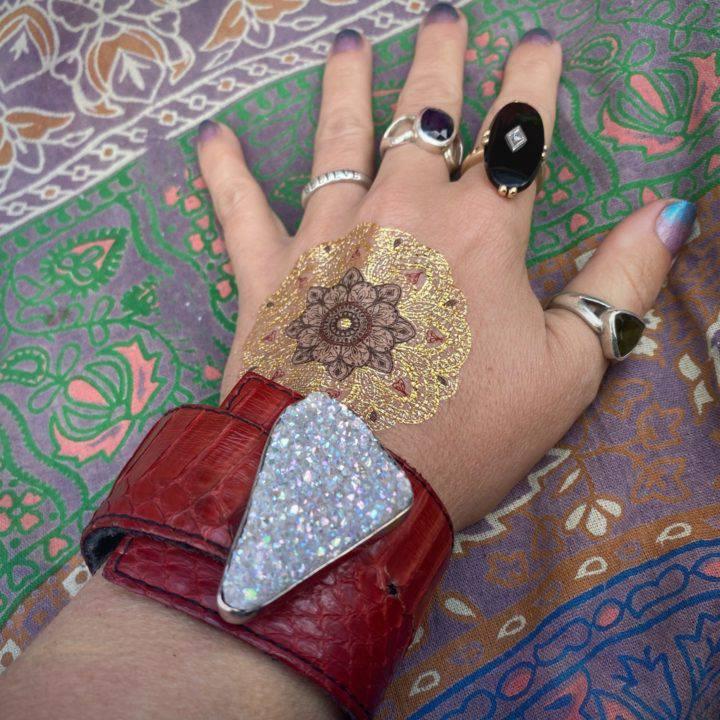 Aura Quartz Cuff Bracelet