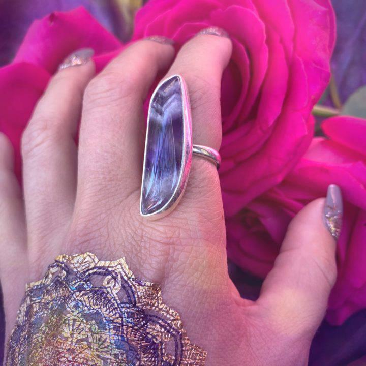 Banded Amethyst Ring