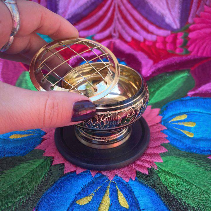 Brass Carved Charcoal Incense Burners