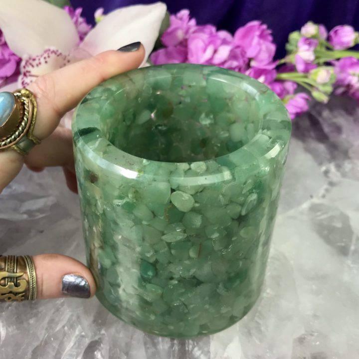 Green Aventurine Cup